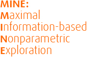 MINE: Maximal Information-based Nonparametric Exploration